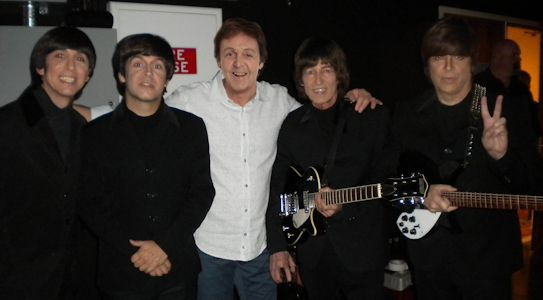 Sir Paul McCartney, backstage visiting with Yesterday